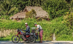 Water Stop (FotoGrazio) Tags: freetodownload poverty composition water fotograzio digitalphotography capture junglehouse pacificislanders scenic waynegrazio pinoy photography photographicart photographersincalifornia photographersinsandiego documentaryphotography photoshoot asian transportation freeimage filipino streetphotography people motorbike waynesgrazio streetscene downloadforfree thatchedroof thatchroomhome artofphotography worldphotographer rural philippines flickr californiaphotographer sandiegophotographer together poor pagudpud explore freepicture naturalroof couple 500px internationalphotographers partners fetchingwater husbandandwife house socialdocumentary