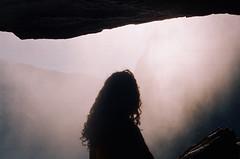 . (Kellen Mohr) Tags: kellenmohr 35mm film kodak portra yosemite ynp upperyosemitefall waterfall mist spray valley light hike