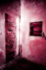 Trough Pink Glasses (vale0065) Tags: pink roze door deur paint verf room kamer building gebouw sanatorium abandoned verlaten lost verloren forgotten vergeten italian italiaans facist rhodos rhodes rodos greece griekenland island eiland light licht shadow schaduw urbex eleousa old oud