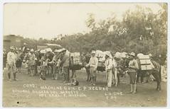 Cons: Machine Gun. C. P. Negras. Segunda Brigada del Noreste del Gral. F. Murgua. (SMU Central University Libraries) Tags: militia horses machineguns mexicanrevolution
