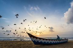How sweet the morning air is... (Well-Bred Kannan (WBK Photography)) Tags: wbkphotography wbk wellbred kannanmuthuraman kannan nikon nikond750 d750 india indian weekendwalk incredibleindia travelphotography travel traveler msb madrasshutterbugs tamron1530f28 tamron wide wideangle sky cloud sunrise marina marinabeach mychennai chennai madras bayofbengal boat