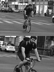 [La Mia Città][Pedala] (Urca) Tags: milano italia 2016 bicicletta pedalare ciclista ritrattostradale portrait dittico bike bicycle nikondigitale biancoenero blackandwhite bn bw 907156