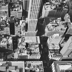 lost (Revilo G.) Tags: street blackandwhite bw newyork streets grid pattern manhattan citygrid birdseyeveiw