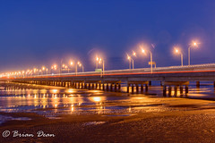 20150817-018-Hornibrook Bridge.jpg (Brian Dean) Tags: bridge sunset night au australia queensland clontarf hornibrookbridge redcliffebridge