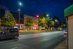 Czstochowa (nightmareck) Tags: twilight fuji dusk poland polska led handheld fujifilm bluehour czstochowa xe1 zmierzch owietlenie lskie xf18mm