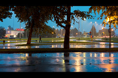 Rainy evening (elkarrde) Tags: city autumn reflections 50mm lights evening nikon cityscape croatia rainy zagreb fullframe nikkor twop 2015 d600 nikonafnikkor50mm118d niftyfifty af5018d dugave nikond600 autumn2015