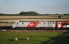 91102 Colton Junction 01/10/2015 (Flash_3939) Tags: uk roof white train grey october cab rail railway junction virgin colton 82204 eastcoast virgintrains livery eastcoastmainline 2015 ecml interim cityofyork class91 91102 bn07 1e19
