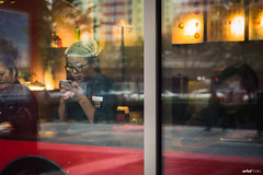 The Waitress Playing Cellphone at the Window. #Street #Leica (unTed) Tags: china street leica city people color 50mm f14 beijing streetphotography documentary summilux asph leicam leicam240