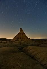 (Jona Mago) Tags: longexposure sky espaa night stars noche spain cielo estrellas nocturna startrails navarra largaexposicin bardenasreales castildetierra nikon1424mm28 nikond610