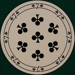 German Round Playing Card 7 of Clubs (Leo Reynolds) Tags: xleol30x squaredcircle playing card playingcard deck carddeck sqset121 canon eos 40d xx2015xx sqset