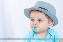 Cake Smash! (Bobby Meade | Photography) Tags: birthday baby cake smash nikon toddler infant birthdaycake messy icing fedora firstbirthday tamron strobe tamron2875 cakesmash d7100