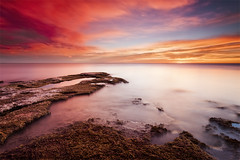 Colorful Sunrise (DavidFrutos) Tags: longexposure sea costa naturaleza seascape muro beach nature water rock wall clouds sunrise landscape coast mar agua rocks waves fineart wave playa paisaje romano alicante amanecer filter le lee nubes nd canondslr olas roca rocas ola 1x1 waterscape filtro largaexposicin filtros gnd neutraldensity canon1740mm graduatedneutraldensity densidadneutra davidfrutos cabocervera 5dmarkii bwnd8 hitechreversegnd06