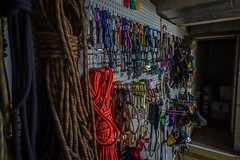 "The ""gear wall"" in Ft. Collins, CO."
