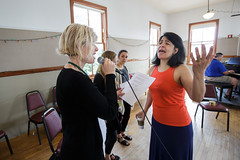Maucha Adnet leads vocalist class at 2015 Port Townsend Jazz Workshop (Centrum Foundation) Tags: usa wednesday jazz workshop porttownsend wa centrum vocalists 2015 mauchaadnet jazzporttownsend neldaswiggett