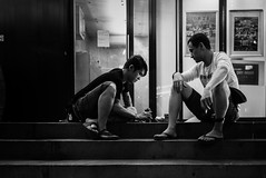 Odds on. (Presence Inc) Tags: life street portrait people bw stilllife night 35mm dark photography singapore candid sony streetphotography everyday fullframe society compact coincidental nightpeople mirrorless filmmood rx1r rx1rm2