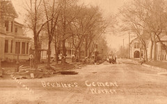 Beubler's Cement Workers on Street