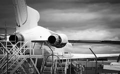 Former Ansett Australia Boeing 727 VH-TBS (Pratt & Whittney JT8D engines), Australian Aviation School, Brisbane airport (baltarusis) Tags: school college training airport body aviation wing australian engine australia brisbane aeroplane queensland former boeing narrow pratt 727 trijet whittney ansett jt8d vhtbs