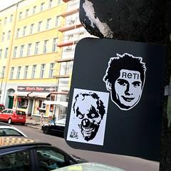 With RETI in Berlin (PSYCO ZRCS 10/12) Tags: street berlin art sign graffiti sticker stickerart stickers vinyl slap grilled tagging psyco bombing slaps reti stickerculture stickerporn stickerlife ostfug