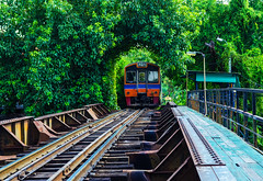 Railroad in Thailand. train (Aor Chantip) Tags: thai subway thailand tourism town street steel road romantic route speed track traffic vehicle tunnel wagon way wonderful trees travel train transit transport transportation railway railroad direction city district downtown forest center beautiful asia asian background bangkok green iron nature outdoor persepctive rail natural metropolitan junction locomotive logistics love architecture