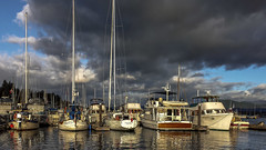 Cowichan Bay (Paul Rioux) Tags: britishcolumbia bc vancouverisland cowichanbay marina marine boats vessels yacht outdoor prioux weather clouds storm calmwater reflections