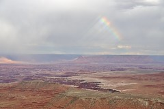 0U1A1916 Canyonlands NP - Island in the Sky - Buck Canyon Overlook, rainbow (colinLmiller) Tags: 2016 utah unitedstatesdepartmentoftheinterior us doi nps nationalparkservice canyonlandsnationalpark islandinthesky district buckcanyonoverlook rainbow