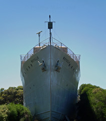 Whyalla 2 (PhillMono) Tags: olympus ship boat vessel australia whyalla south bathurst class corvette world war two navy naval museum history heritage rip bow royal australian ran