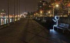 Alter Ego - Second self (Stefan Sellmer) Tags: lights longexposure deutschland autumn d750 nightlight citylights reflections schleswigholstein cityscape germany kiel lightpainting night de outdoor