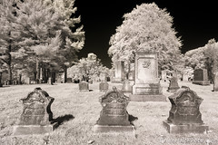 1-web-watermark (Brian M Hale) Tags: pine grove cemetery westborough ma mass massachusetts westboro graveyard grave yard headstones head stone ir infra red infrared lifepixel brian hale brianhalephoto t4i canon converted black white bw blackandwhite