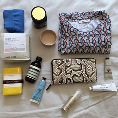 From HK and melbourne trip. (woods) Tags: givenchy python wallet homme byredo aesop honey carven hagi ware coffee