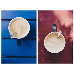 blue & red (t.basel) Tags: coffee cappuccino lattemacchiatto latteart mzg starbucks blue red colors crema tasty food sony a7ii zeiss sonnar zeisslenses 55mm 18