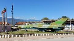 Mikoyan-Gurevich Mig.21UM c/n 516939036 Bulgarian Air Force serial 13 Preserved in the town of Dabravite, Bulgaria