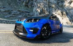 Drifting away (pennamatteo) Tags: ford focus rs drift drifting mountain sunnyday sunday fordfocusrs blue black