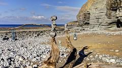 The big surprise (pauldunn52) Tags: beach balance stones driftwood pebbles coast cliffs traeth mawr glamorgan heritage wales