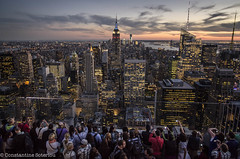 LREd-2 (cospic7) Tags: nyc newyork newyorkcity evening dusk skyline skylines city cityscape cityscapes tourists tourism holidaymakers manhattan empirestatebuilding rockefellercentre rockefeller
