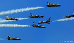 Busy Place (arcticrail) Tags: reno races racing rara race airplane aircraft airshow air action aviation airraces airplanes stead september field nikon nevada breitling jet team