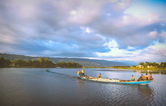 tanguar hawor, sylhet, dhaka, bangladesh... (ahroxy) Tags: river boat tanguarhawor bluesky sky sgma 1750 sylhet bangladesh