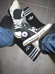 Wet Jeans (adifan) Tags: wet jeans socks adidas converse wetlook