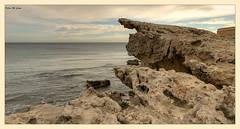 Acantilados en Los Escullos (Almera) (Jose Manuel Cano) Tags: acantilado losescullos almera roca stone nikond5100 paisaje landscape mar sea costa coast