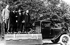 #Lithuanian Jews are forced onto the back of a truck to be taken to the forests outside of iauliai, Lithuania for mass execution by German Einsatzgruppen (task forces, or deployment groups) SS paramilitary death squads (29 June 1941). [1177  759] #h (Histolines) Tags: histolines history timeline retro vinatage lithuanian jews forced onto back truck be taken forests outside iauliai lithuania for mass execution by german einsatzgruppen task forces or deployment groups ss paramilitary death squads 29 june 1941 1177  759 vintage dh historyporn httpifttt2gzcpvf