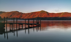 Red Dawn on Derwentwater (Jonnyfez) Tags: lake district national park derwentwater keswick jetty sunrise red mountain fells colour morning early mist ashness long exposure nd nikon d750 jonnyfez