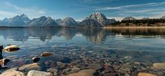 Jenny Lake Pano (greggohanian) Tags: grandtetons tetons mountaina reflection jennylake lake reflections