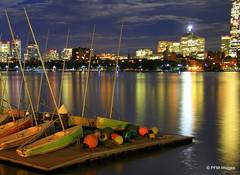 MIT Sailing Club (pandt) Tags: mitsailingclub boston sailing sailboat buoy buoyant dock charlesriver skyling night longexposure water waterfront skyline outdoor beauty reflection lights boats bright