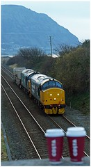 Two+Two+Two! (peterdouglas1) Tags: valleyflasks 6k41 directrailservices class37 penmaenmawr costa