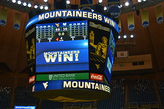 WVU Coliseum Morgantown, WV (Dinotography24) Tags: wvu morgantown wv scoreboard mountaineers win westvirginia coliseum