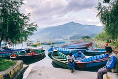 Pokhara Lakeside (Bokeh-Dokey) Tags: boats lake nepal phewalake pokhara sarangkot fujixt1