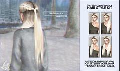 Out Now! Waterfalls @ Shiny Shabby (liza.broono) Tags: sl second life foxy original mesh shiny shabby event fashion hair wig style amitomo catwa fitted kit braid braids