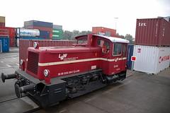 L&W 332-002 Emmerich (cellique) Tags: l7w laeger wstenhfer rangeerlocje 332002 gmbh containerhaven emmerich goederentreinen spoorwegen treinen eisenbahn guterzuge zuge railways trains