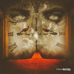 Where Time Stands Still (Ghost Of Nations Photography And Digital Art) Tags: ghostofnationsphotography ghostofnations gloomy liminal dark eye eyes clock surreal spooky gothic newgothic neogothic disquiet disturbing dirty texture textured