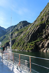 Entering the Trollfjord on a Tourist Ship (14) (Phil Masters) Tags: 21stjuly july2016 norwayholiday norway raftsund raftsundet thetrollfjord trollfjorden trollfjord shipsandboats hurtigruten msspitsbergen