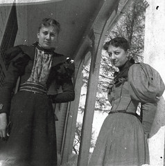 Cora & Ida (~ Lone Wadi ~) Tags: cabinetcard frontporch lostphoto foundphoto retro 1890s 19thcentury victorian valentinesday